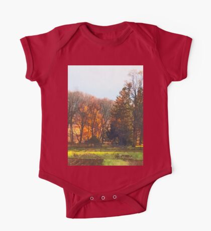 Autumn Farm With Harrow One Piece - Short Sleeve