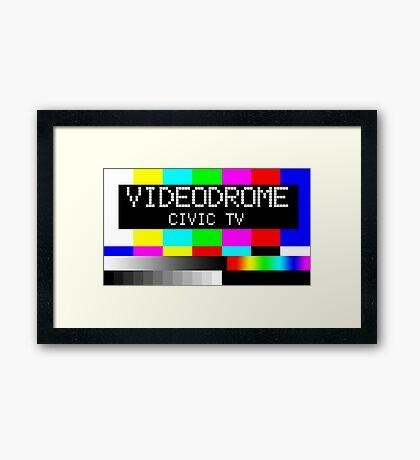 Videodrome - Civic TV Framed Print