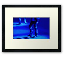 Blue Tap Dance Fine Art  Framed Print