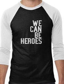 David Bowie We Can Be Heroes Tribute Charity Legend Men's Baseball ¾ T-Shirt
