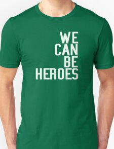 David Bowie We Can Be Heroes Tribute Charity Legend Unisex T-Shirt
