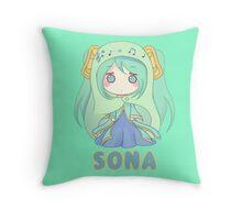 Sona chibi Throw Pillow