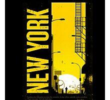 NEW YORK NEVER CLEEP Photographic Print