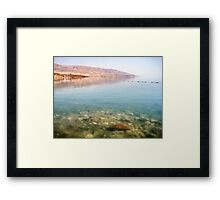 Bright Day at the Dead Sea Framed Print
