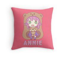 Annie chibi Throw Pillow