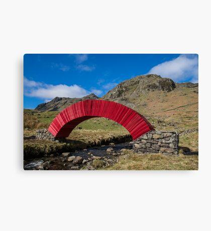 Red Paper Bridge Canvas Print