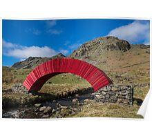 Red Paper Bridge Poster
