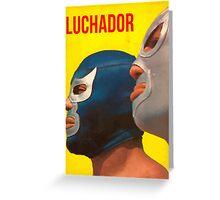 Luchador Greeting Card