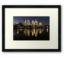 Ships in the night - Melbourne Australia Framed Print