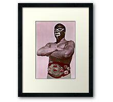 Luchador enmascarado Framed Print
