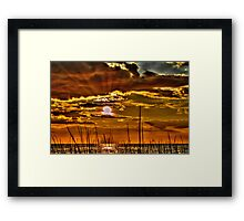 Sunset Rays Framed Print