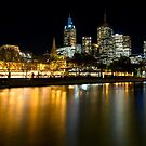 Evenings on the Yarra - Melbourne Australia by Norman Repacholi