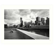 Pause for reflection - Melbourne Australia Art Print