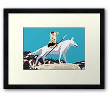 8 bit Mononoke 2 Framed Print