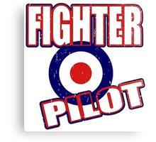 Fighter Pilot UK Canvas Print