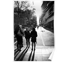 Walking toward the light - Melbourne Australia Poster
