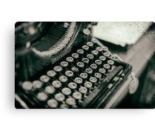 Vintage Typewriter - vers. 2 Canvas Print