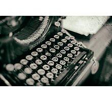 Vintage Typewriter - vers. 2 Photographic Print