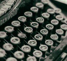Vintage Typewriter - vers. 2 Sticker