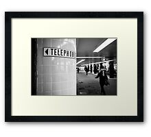 Land before mobiles - Melbourne Australia Framed Print