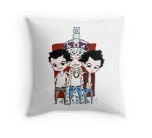 Faces of Moriarty Throw Pillow