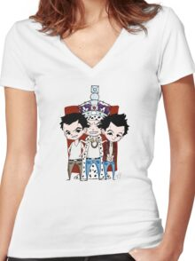 Faces of Moriarty Women's Fitted V-Neck T-Shirt
