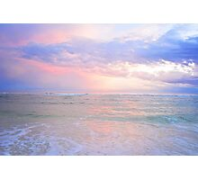 Emerald Coast Beach Sunset Photographic Print
