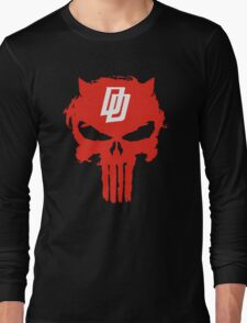 Daredevil The Punisher Symbol Long Sleeve T-Shirt