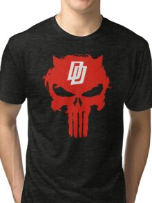 Daredevil The Punisher Symbol Tri-blend T-Shirt