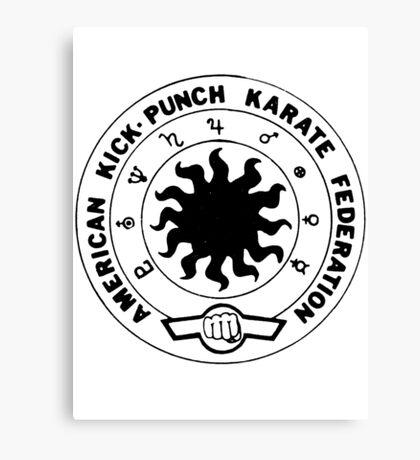 american kick punch karate federation Canvas Print