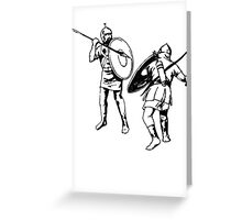 Biblical Battle Greeting Card