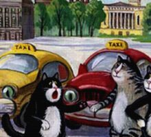 Taxi Cats  Sticker