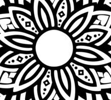 Ornamental Lotus Mandala - Black Sticker