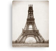 Eiffel Tower Under Construction - 1888 Canvas Print
