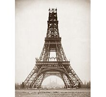 Eiffel Tower Under Construction - 1888 Photographic Print