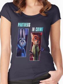 Zootopia Partners in Crime Women's Fitted Scoop T-Shirt