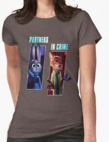 Zootopia Partners in Crime Womens Fitted T-Shirt
