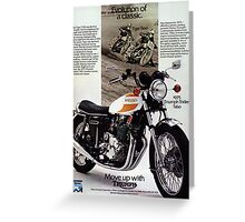 Triumph T160 Trident Greeting Card