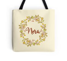 Nora lovely name and floral bouquet wreath Tote Bag