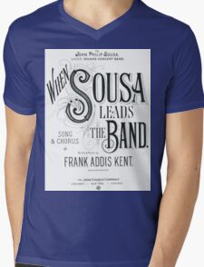 When Sousa Leads the Band Mens V-Neck T-Shirt