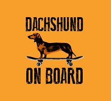 Dachshund on board Unisex T-Shirt