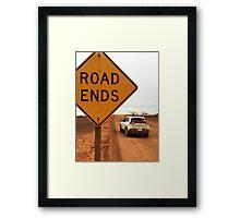 AU_Road ends Framed Print