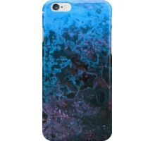Blue Paint Abstract Background Texture iPhone Case/Skin