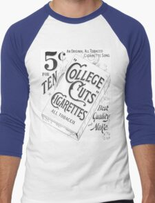 "5 Cents for Ten ""College Cuts"" Cigarettes Men's Baseball ¾ T-Shirt"
