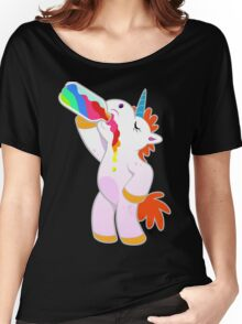 Drunk Unicorn rainbow Women's Relaxed Fit T-Shirt