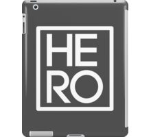 HERO WHITE SQUARE iPad Case/Skin