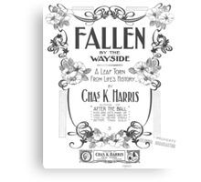 Fallen By The Wayside Canvas Print