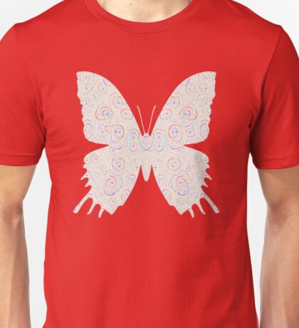 #DeepDream White Butterfly Unisex T-Shirt