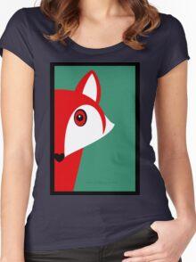 FOX SNEAKING A PEEK Women's Fitted Scoop T-Shirt