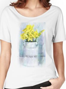 Daffodils and Milk Jug Women's Relaxed Fit T-Shirt